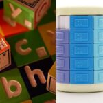 braille blocks, puzzles and buttons